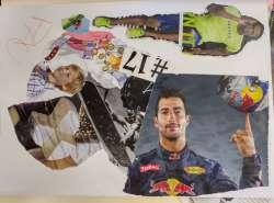 Treballem la ira amb Collage. (treball d'un dels participants)