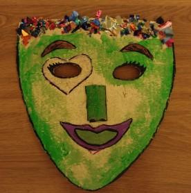 Màscara elaborada en sessió d'Artteràpia individual