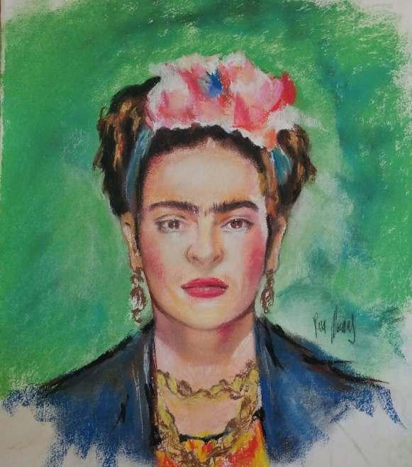 Obra personal. Retrato a pastel 2018